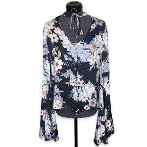 Some Days Lovin' Breaking Darkness Floral Blouse